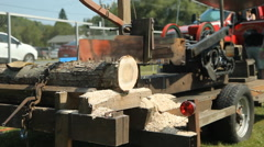Steam driven saw. - stock footage