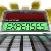 expenses calculated shows business expenditure and bookkeeping - stock illustration