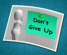 Stock Illustration of don't give up photo means never quit