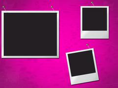 Photo frames showing text space and photograph Stock Illustration