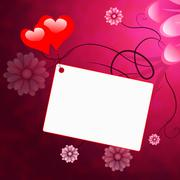 Heart tag representing blank space and romance Stock Illustration