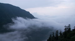 Timelapse of the mist and cloud in Mount Emei 4K Stock Footage