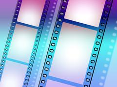 copyspace background showing camera film and cinematography - stock illustration