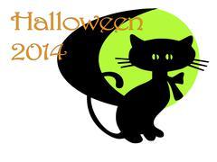 Art deco halloween invitation Stock Illustration