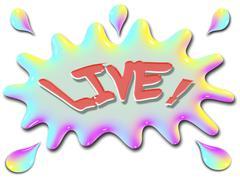 inspirational illustration series live with splash - stock illustration