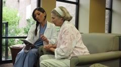 Nurse with Patient Stock Footage