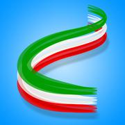 Flag italy meaning national patriotic and nationality Stock Illustration