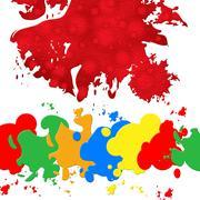 Splash paint representing blotch painter and blobs Piirros