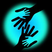 Holding hands meaning kid love and together Stock Illustration