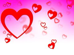 Hearts rays meaning valentine's day and backgrounds Stock Illustration