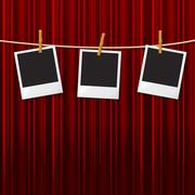 Stock Illustration of photo frames representing blank space and photograph