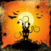 Haunted house meaning trick or treat and evil spooky Stock Illustration