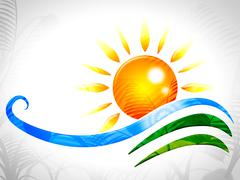 Stock Illustration of sun rays representing sunny sunrays and radiance