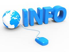 Global info representing world wide web and web site Stock Illustration