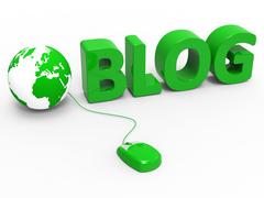 Internet blog representing world wide web and web site Stock Illustration