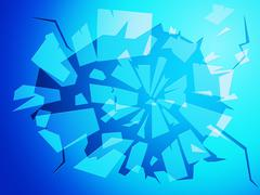 Broken glass representing empty space and copy Piirros