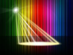 Stock Illustration of spectrum spotlight meaning color swatch and multicolor