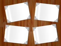 Paper copyspace representing framing surround and border Stock Illustration