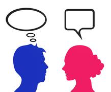 speech bubble indicating think about it and reflecting chatting - stock illustration