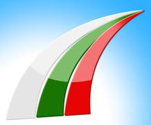 Bulgaria flag representing nationality euro and patriot Stock Illustration