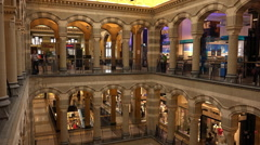 Exclusive Magna Plaza Shopping Center in Amsterdam - stock footage