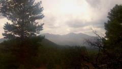 Stock Video Footage of Rainy Day In The Coconino National Forest- Flagstaff Arizona