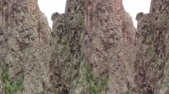 3D jemez cliffs in NM Guadalupe Canyon Stock Footage
