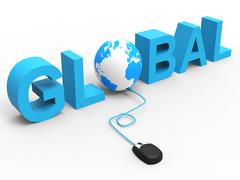 internet global meaning world wide web and web site - stock illustration