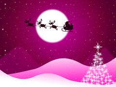 xmas tree meaning merry christmas and lunar - stock illustration
