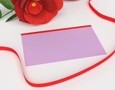 Gift card representing surprises valentine and petals Stock Illustration