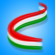 Hungary flag meaning hungarian patriotism and patriot Stock Illustration