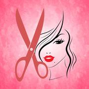 haircut hair meaning hairdresser style and female - stock illustration