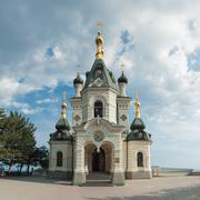 orthodox church in Foros - stock photo
