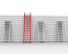 Brick wall representing overcome obstacles and obstruction Piirros