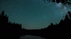 Starry Night Sky Time Lapse during Perseid Meteor Shower - stock footage