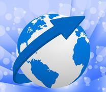 world globe indicating solar system and planetary - stock illustration