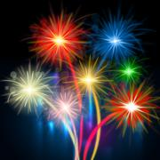 Stock Illustration of color fireworks meaning explosion background and celebration