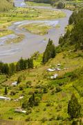 Chambo River Valley Tungurahua Province Ecuador Vertical - stock photo