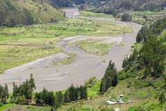 Chambo River Valley Tungurahua Province Ecuador - stock photo