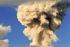 Stock Photo of Mushroom Cloud From Tungurahua Volcano Explosion In Ecuador South America