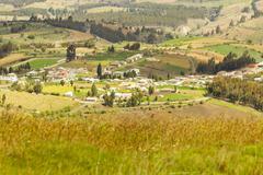 High Altitude Andean Village Chimborazo County Ecuador Stock Photos