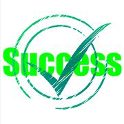 success tick indicating progress confirmed and passed - stock illustration
