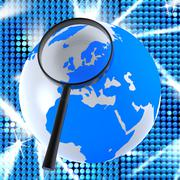Stock Illustration of globe internet showing world wide web and web site