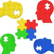 puzzle teamwork meaning think about it and organized teams - stock illustration