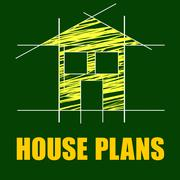 house plans indicating layout building and drafting - stock illustration