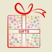 Stock Illustration of gifts giftbox indicating gift-box greeting and package
