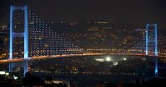 Bosphorus Bridge Time-lapse Stock Footage