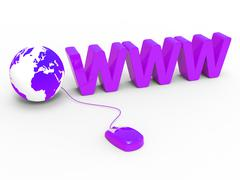 Stock Illustration of internet www showing world wide web and web site