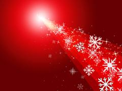 Sunrays red representing ice crystal and festive Stock Illustration
