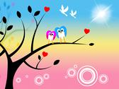 Stock Illustration of owls tree meaning treetop branch and trunk